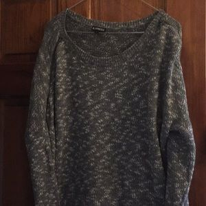 Express grey and white sweater.